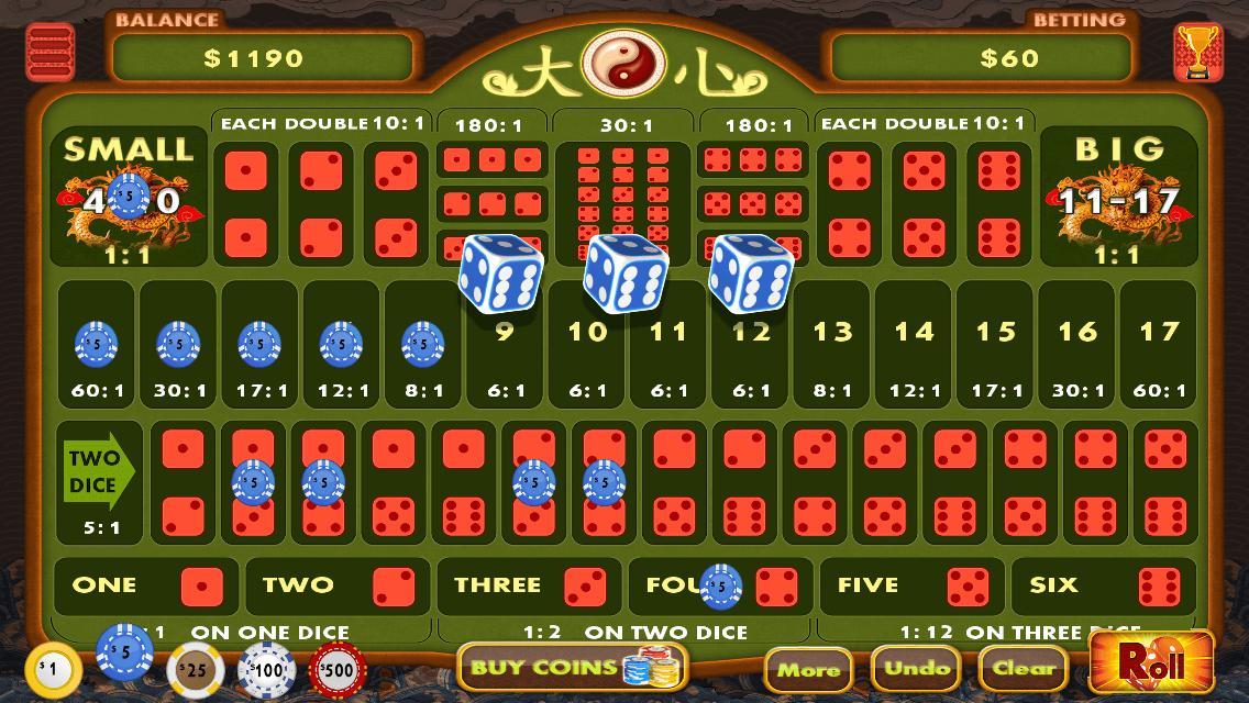 Sicbo Da Xiao Casino Game