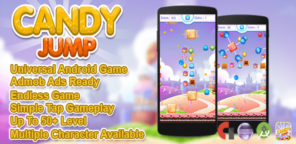Candy Jump game for iOS  android