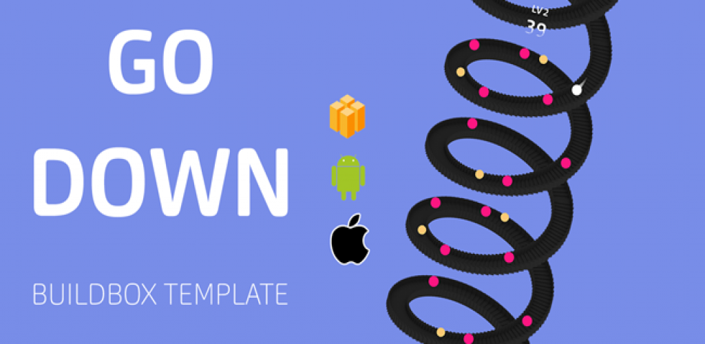 Go Down Buildbox Template