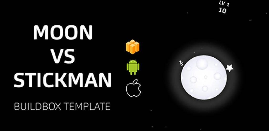 Moon vs stickman Buildbox Template