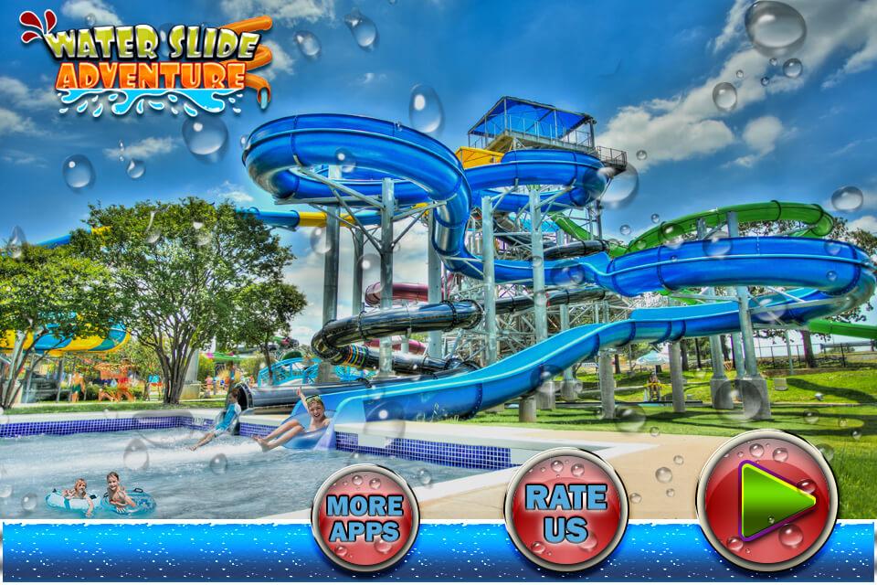 Water Slide Rush Racing : Uphill Water Park Stunt & Ride Adventure