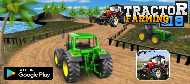 Real Tractor Farming Drive 3D : Offroad Sim Farming Game
