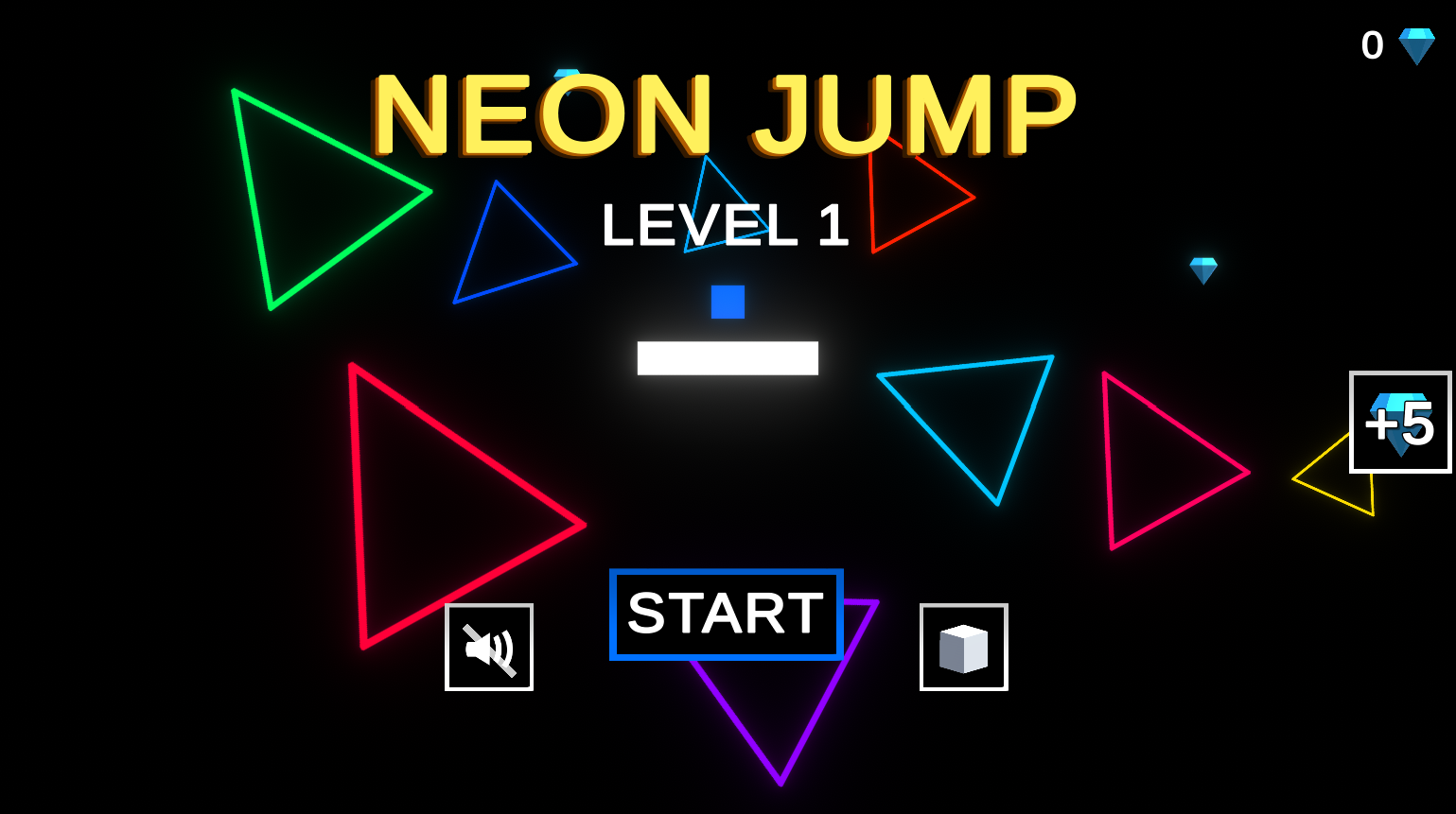 Neon Jump Complete Unity Game