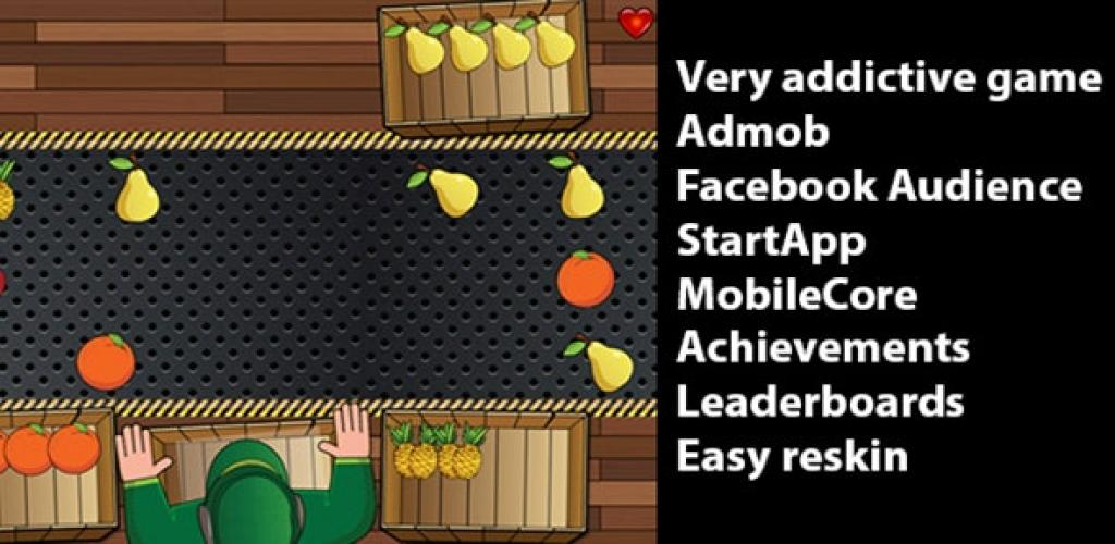 Fruit Sorting Game with Admob, StartApp  Leaderboards