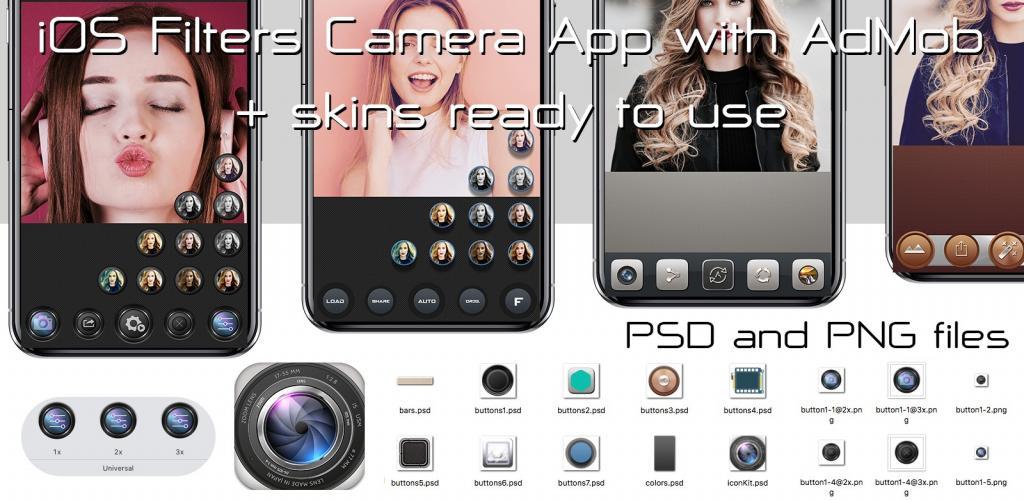 IOS Filter App with AdMob + UI Kits