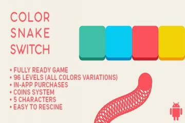 Color Snake Switch - Fun Arcade Game Android Template + easy to reskine + AdMob