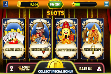 Cocos - Slotmania 4 Themes -Classic Vegas ,Jungle Raiders , Lucky Fortunes , Ancient Egypt