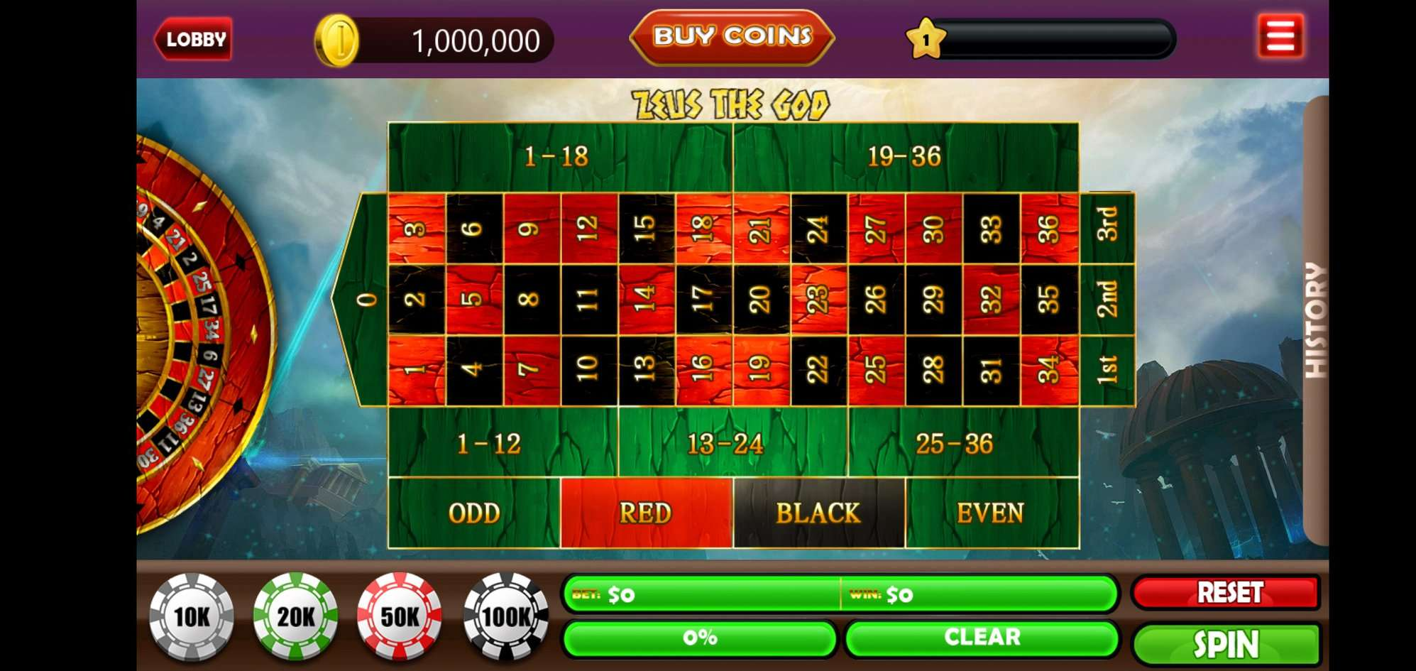 4 in 1 Slots, Blackjack, Roulette, Baccarat
