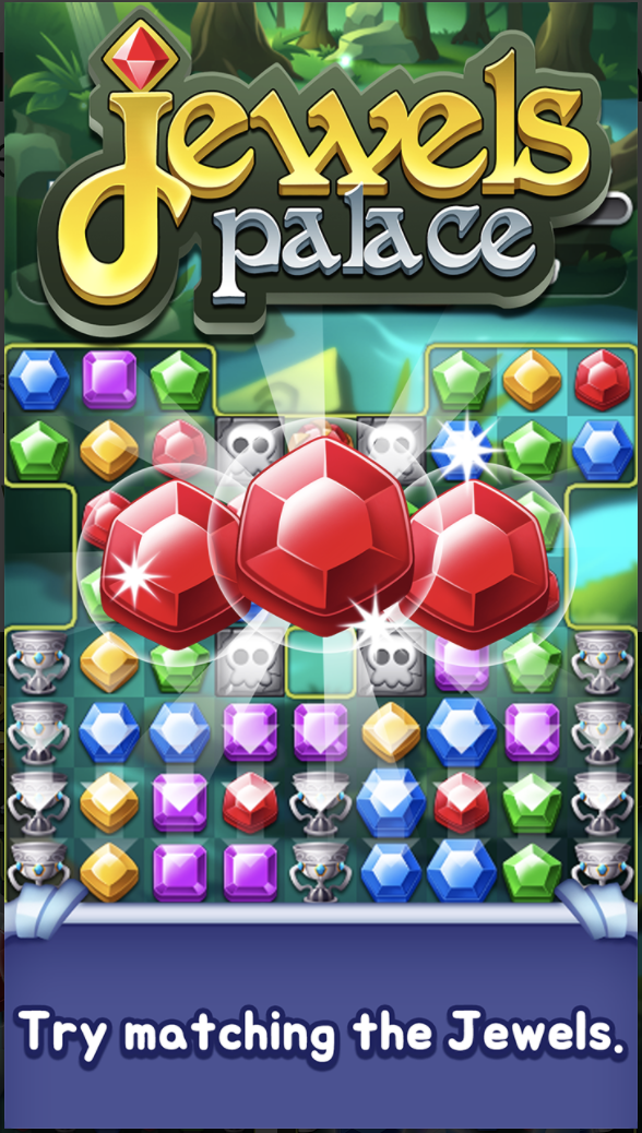 Jewels Palace World match 3 puzzle master Unity Source