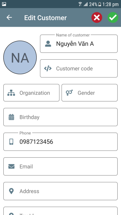 Mobile Point of sale application Android + iOS