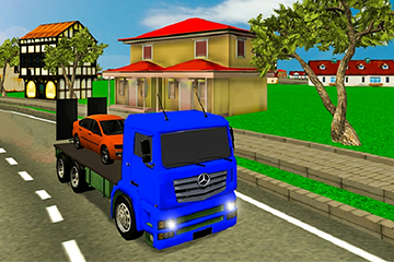Impossible cargo Truck Driving:car transporter