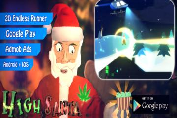 High Santa - 2D Endless Runner Parkour (Unity)