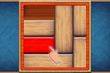 UnBlock Red Wood Escape Puzzle