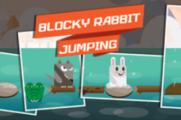 Blocky Rabbit Jumping