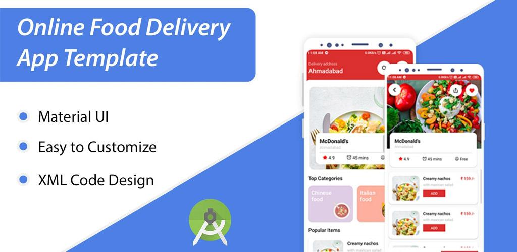 Food Delivery App XML UI Kit