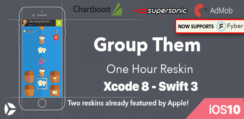 Group Them - One Hour Reskin - iOS 10  Swift 3 ready