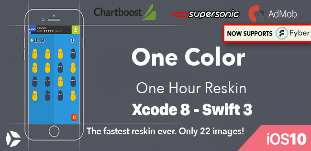 One Color – One Hour Reskin - iOS 10  Swift 3 ready