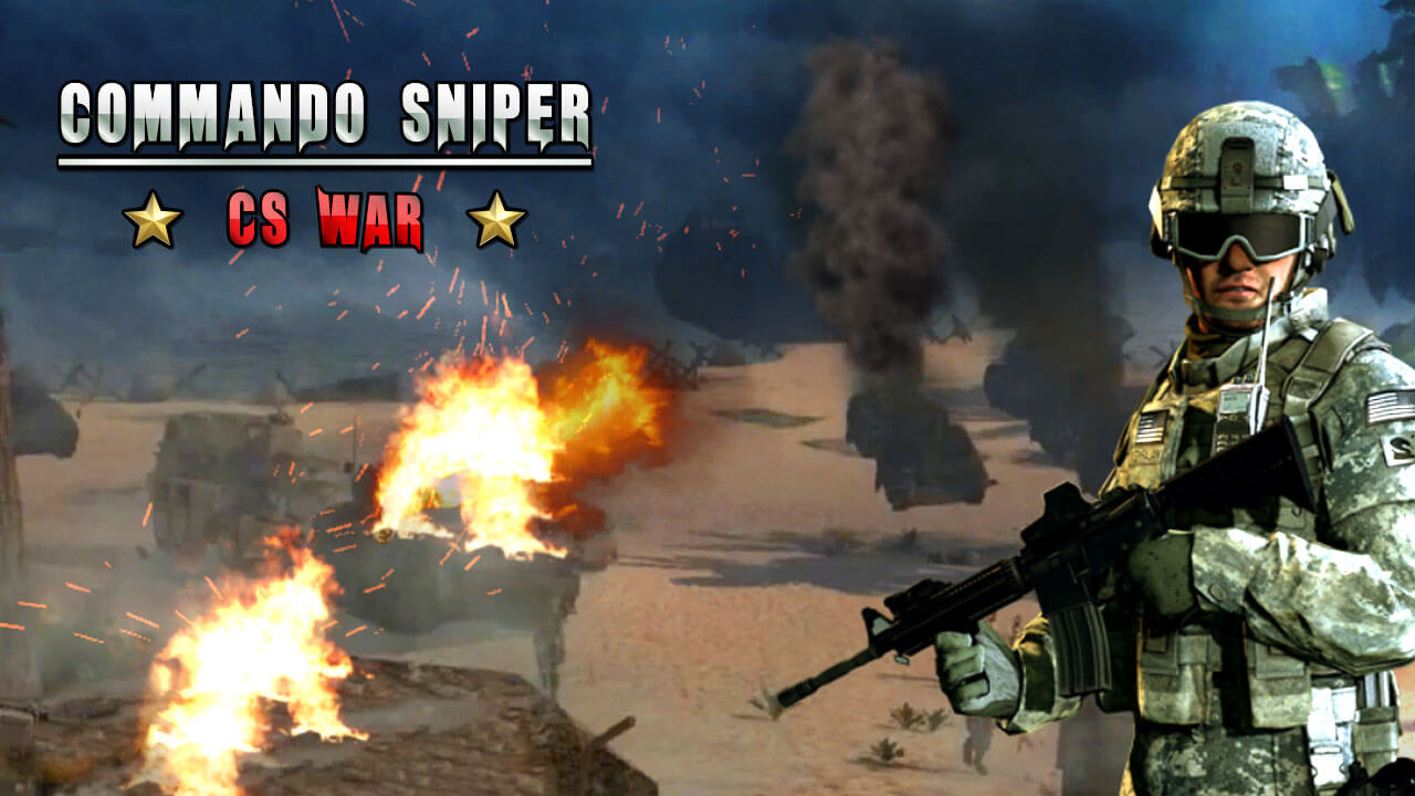 Commando Sniper CS War 3D- yalghaar of the army counter strike