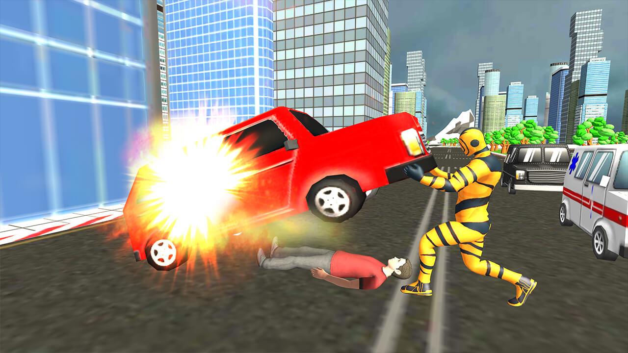 Flying Superhero Revenge Grand City Captain Games