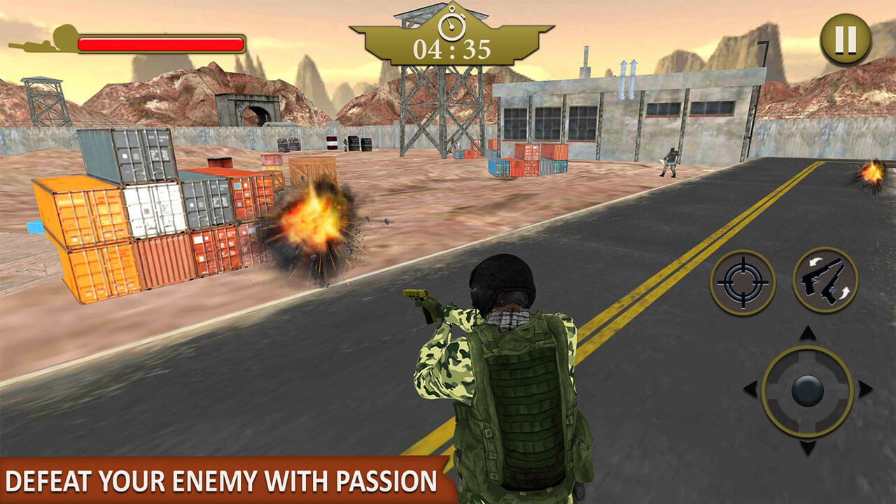 Frontline Army Commando War Battle Games