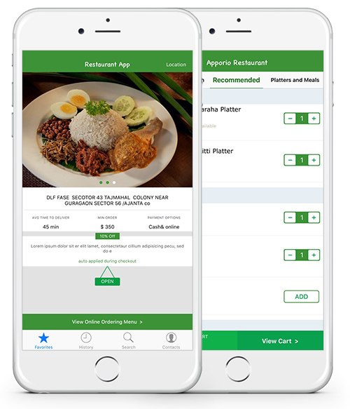 Apporio Restaurant - Food Ordering App