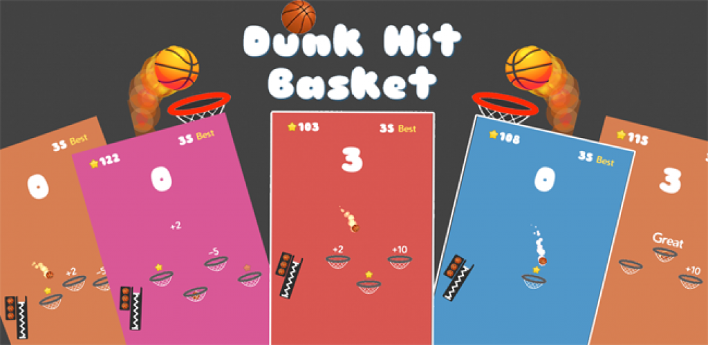 Dunk Hit Basket Unity3D Source code - Android iOS Supported