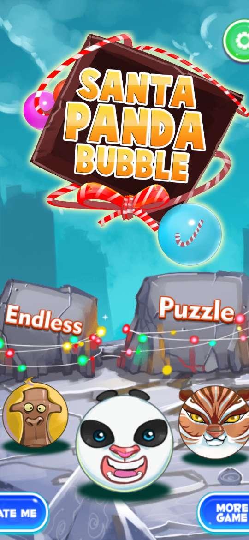 Santa Panda Bubble Christmas