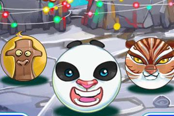 Santa Panda Bubble Christmas