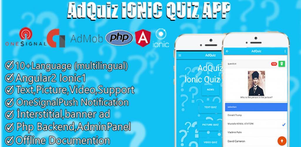 Adquiz Ionic Multilingual Quiz App