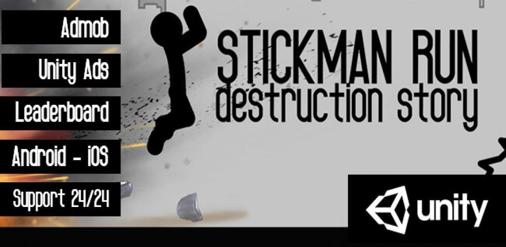 Stickman Run -Destruction Story