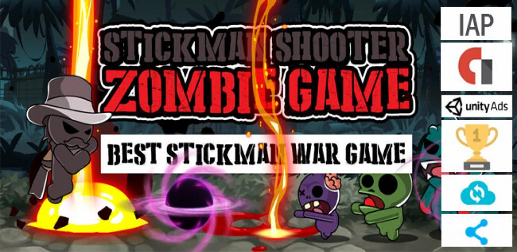 Buy and Sell Stickman Shooter Games Template Android & iOS