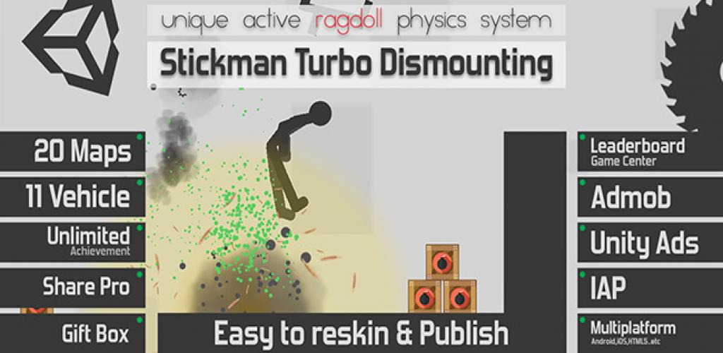 Stickman Turbo Dismounting-Completed Project Unity